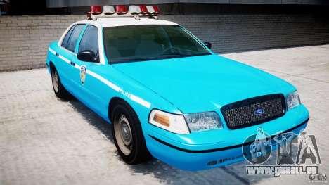 Ford Crown Victoria Classic Blue NYPD Scheme pour GTA 4 est une gauche
