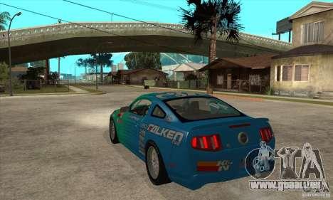 Ford Mustang GT Falken pour GTA San Andreas sur la vue arrière gauche