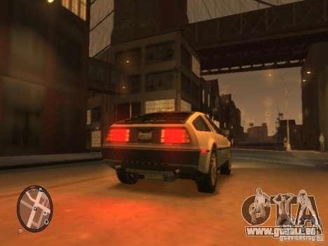 De Lorean DMC 12 für GTA 4 rechte Ansicht