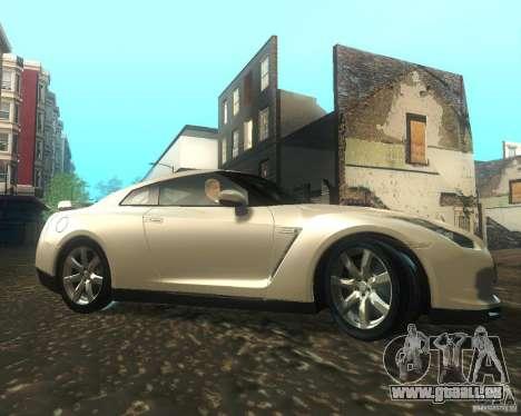 Nissan GTR R35 Spec-V 2010 Stock Wheels pour GTA San Andreas vue arrière