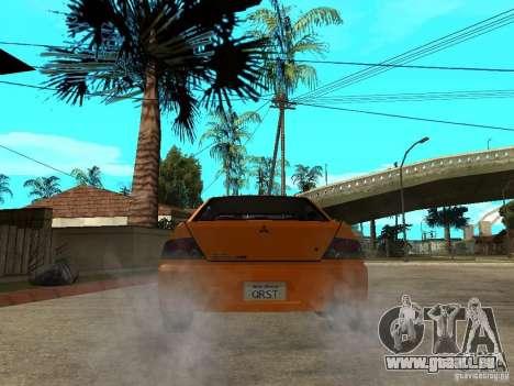 Mitsubishi Lancer Evo IX MR Edition pour GTA San Andreas vue de dessous