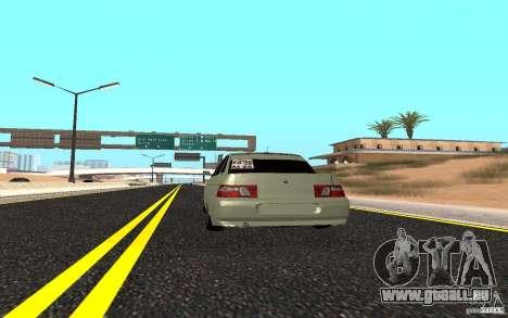 VAZ 2110 léger Tuning pour GTA San Andreas sur la vue arrière gauche