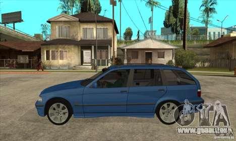 BMW 318i Touring pour GTA San Andreas sur la vue arrière gauche