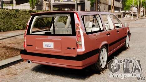 Volvo 850 Wagon 1997 pour GTA 4 Vue arrière de la gauche
