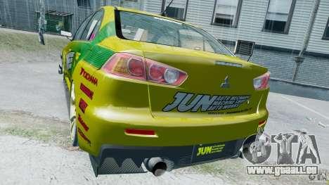 Mitsubishi Lancer X JUN pour GTA 4 est un droit