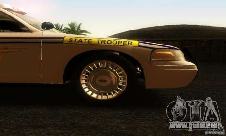 Ford Crown Victoria South Carolina Police pour GTA San Andreas vue de droite