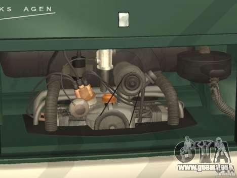 Volkswagen Transporter T1 Camper pour GTA San Andreas vue intérieure