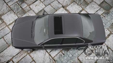 BMW 740i (E38) style 37 pour GTA 4 vue de dessus