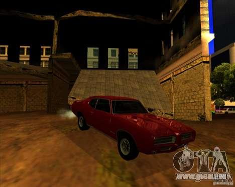 Pontiac GTO 1969 pour GTA San Andreas vue de droite