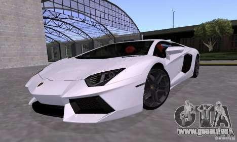 Lamborghini Aventador LP700-4 Final pour GTA San Andreas vue intérieure