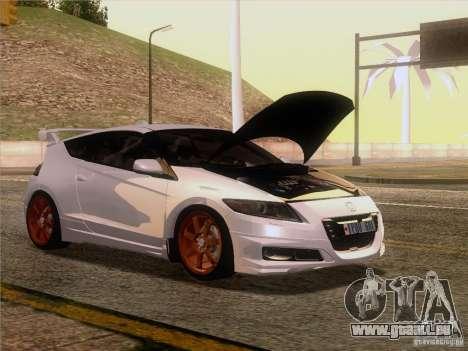 Honda CR-Z Mugen 2011 V2.0 pour GTA San Andreas sur la vue arrière gauche
