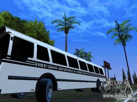 Prison Bus für GTA San Andreas Seitenansicht