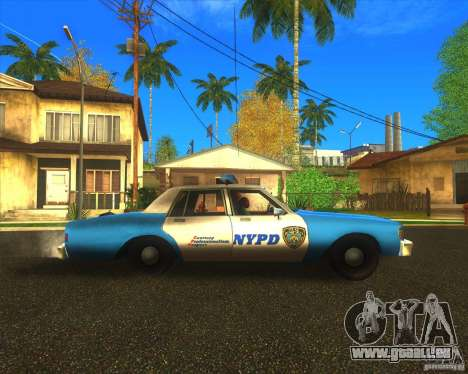 Chevrolet Caprice Classic 1986 NYPD für GTA San Andreas linke Ansicht