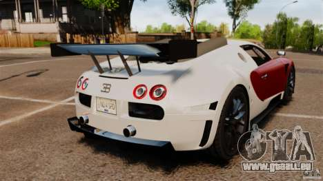 Bugatti Veyron 16.4 Body Kit Final Stock pour GTA 4 Vue arrière de la gauche