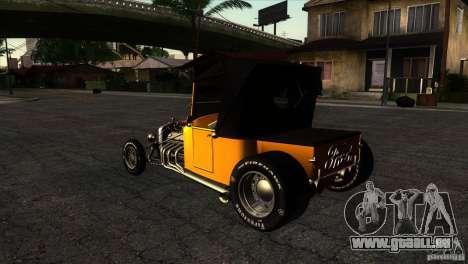Ford T 1927 Hot Rod pour GTA San Andreas sur la vue arrière gauche