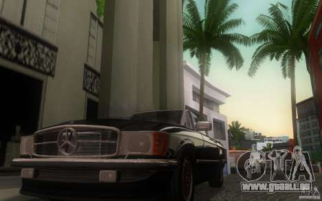 Mercedes-Benz 350 SL Roadster für GTA San Andreas Innenansicht