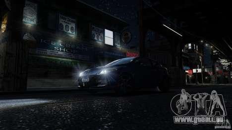 Renault Megane RS 250 für GTA 4 Innen