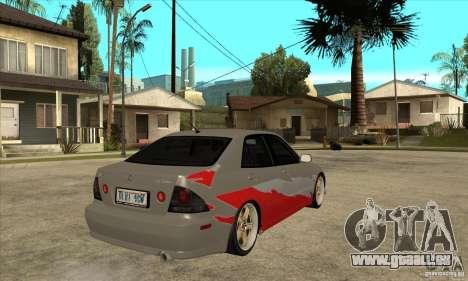 Lexus IS300 Tunable pour GTA San Andreas vue de droite