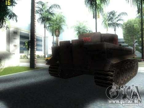 Tiger pour GTA San Andreas sur la vue arrière gauche
