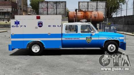 GMC C3500 NYPD ESU pour GTA 4 est une gauche