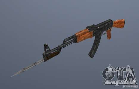 AK 47 avec baïonnette pour GTA San Andreas