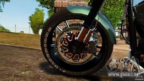 Harley Davidson Fat Boy Lo Racing Bobber für GTA 4 Innenansicht