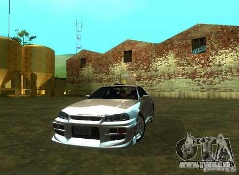 Nissan Skyline GTR-34 pour GTA San Andreas vue de droite