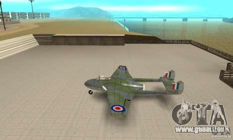 De-Havilland-Vampire ver 2.0 pour GTA San Andreas laissé vue