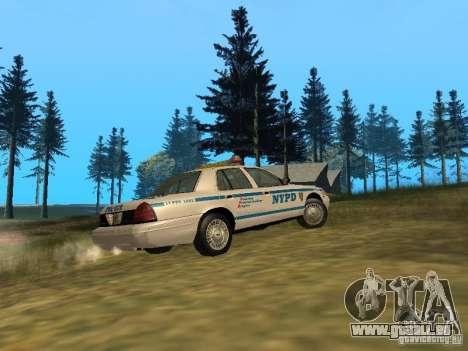Ford Crown Victoria NYPD Police für GTA San Andreas Rückansicht