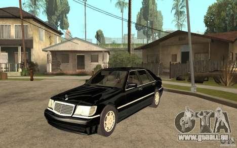 Mercedes-Benz S600 V12 W140 1998 V1.3 pour GTA San Andreas