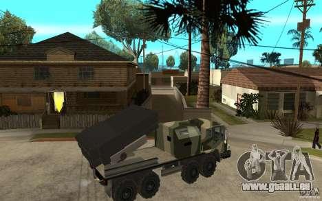 Missile Launcher Truck pour GTA San Andreas vue de droite