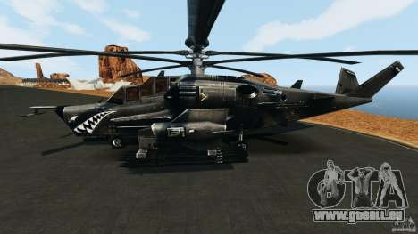 KA-50 Black Shark Modified für GTA 4 linke Ansicht