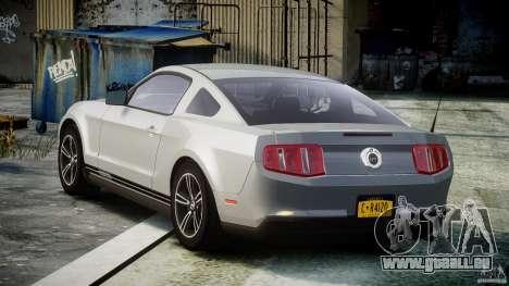 Ford Mustang V6 2010 Premium v1.0 pour GTA 4 Vue arrière de la gauche