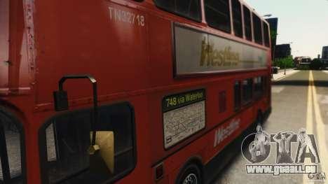London City Bus pour GTA 4 Vue arrière