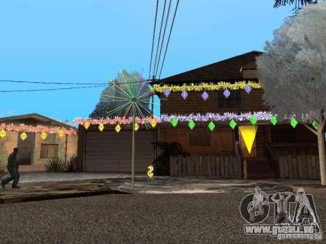 Nouvel an à la rue Grove pour GTA San Andreas deuxième écran