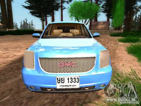 GMC Yukon Denali XL pour GTA San Andreas vue arrière