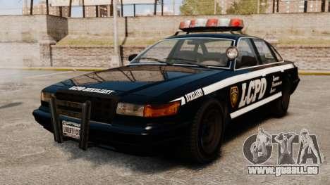 Une nouvelle voiture de Police pour GTA 4 Vue arrière