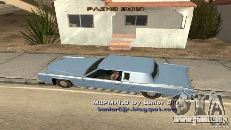 Music car v4 pour GTA San Andreas deuxième écran
