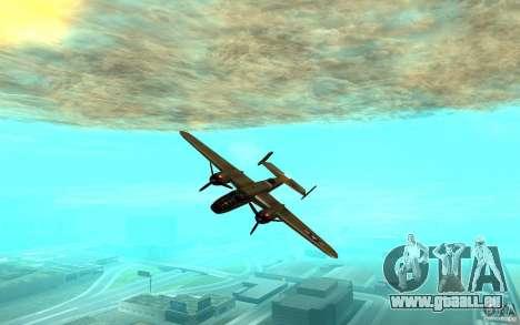 B-25 Mitchell pour GTA San Andreas sur la vue arrière gauche