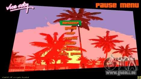 Radar carré pour le quatrième écran GTA Vice City