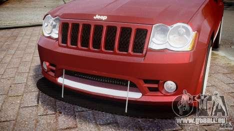 Jeep Grand Cherokee pour GTA 4 vue de dessus