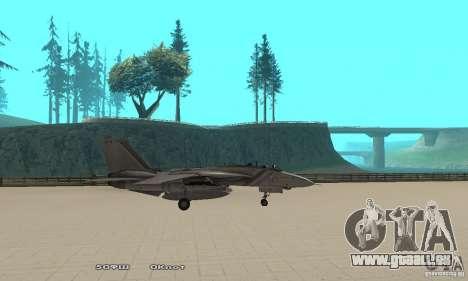 F14W Super Weirdest Tomcat Skin 1 für GTA San Andreas linke Ansicht