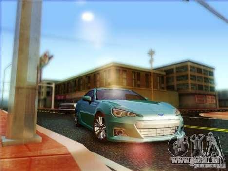 Subaru BRZ S 2012 für GTA San Andreas Rückansicht