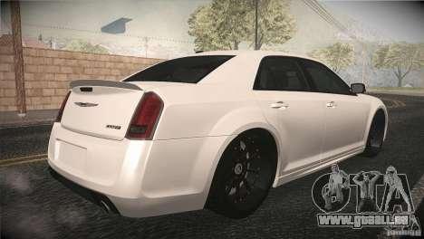 Chrysler 300 SRT8 2012 pour GTA San Andreas vue intérieure
