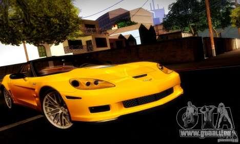 Chevrolet Corvette ZR-1 pour GTA San Andreas vue de côté