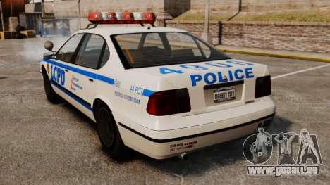 Nouvelle patrouille de Police pour GTA 4 Vue arrière de la gauche