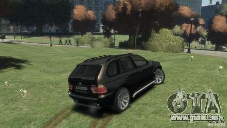 BMW X5 für GTA 4 hinten links Ansicht