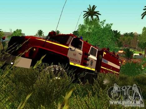 Ural 5557-40 Feuer für GTA San Andreas linke Ansicht