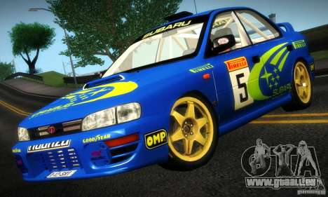 Subaru Impreza 1995 World Rally ChampionShip pour GTA San Andreas laissé vue