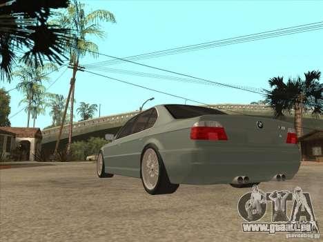 BMW E38 M7 pour GTA San Andreas sur la vue arrière gauche